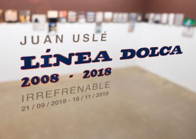 'Línea Dolca 2008-2018. Irrefrenable'. Juan Uslé